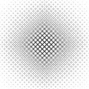 Repeat black and white vector star pattern - stock illustration