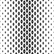 Repeat monochrome abstract triangle pattern - stock illustration