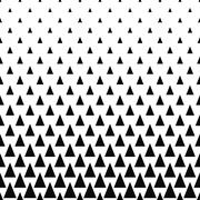 Repeating monochrome vector triangle pattern - stock illustration