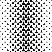 Repeat black and white vector triangle pattern Stock Illustration
