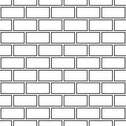 Seamless monochrome abstract wall pattern - stock illustration