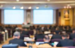 Blur of business Conference and Presentation in the conference hall Stock Photos