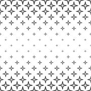 Repeating monochrome star cross pattern - stock illustration