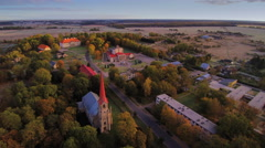 Aerial view of the manor in Lihula Estonia Stock Footage