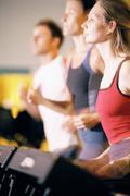 People on treadmill Stock Photos