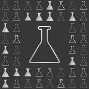 Stock Illustration of Silver line chemistry icon design set