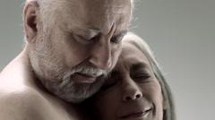 Loving senior couple - stock footage