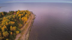 The big river fronting the Lahemaa national park Stock Footage