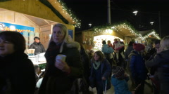 Cotton candy stall at the Christmas market in Graz Stock Footage