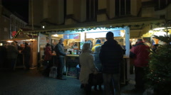 Food stall at the Franziskanerviertel Christmas market in Graz Stock Footage