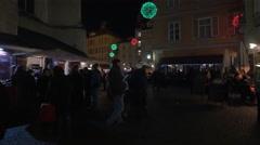 Visiting the Franziskanerviertel Christmas market in Graz Stock Footage