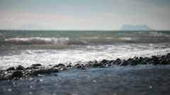 Seascape, Marbella, Spain with view of Gibraltar and African coast Stock Footage