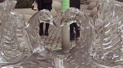 Icefest 2016 on Bloor-YorkvilLe, Toronto, Canada Stock Footage