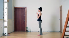 Women practicing yoga - stock footage