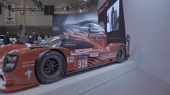 Stock Video Footage of Porsche 919 Le mans Racecar. Toronto International Auto Show.