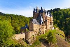 Eltz castle gates and fortification side view - stock photo