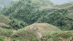 China, guangxi, longsheng, dragon's backbone rice terraces Stock Footage