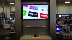 Apple TV on display in Apple store in Palo Alto, CA, USA. - stock footage