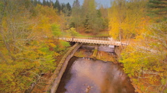 The river underneath the bridge in Nommeveski Stock Footage