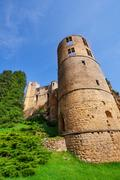 Tower of Beaufort castle in Luxembourg Stock Photos