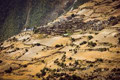 Traditional stone build village. - stock photo
