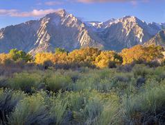 Eastern Sierra sunrise,  California - stock photo