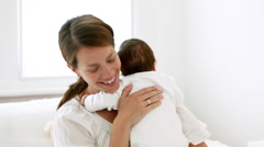 Happy mother and baby Stock Footage