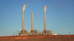 Navajo Power Station in Page, Arizona Stock Footage