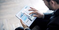 Composite image of business interface Stock Photos