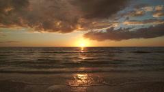 Captiva Florida Sunset Beach Stock Footage