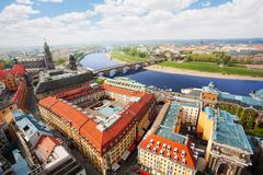 Dresden downtown panorama - stock photo