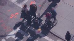 City Crosswalk time laspe Stock Footage
