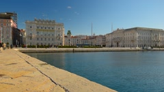 TRIESTE, ITALY. Views from the pier of Trieste. Italy, Friuli-Venezia Stock Footage