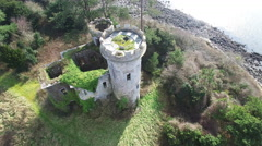 4k Aerial shoot of a castle in Ireland Stock Footage