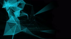 Blue abstract tech polygons with space for text. 4K Looped animation Stock Footage