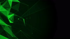 Stock Video Footage of Green polygon background for presentation with space for text. abstract