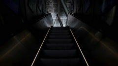 Empty escalator moving upwards Stock Footage