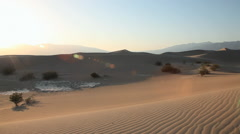 Death Valley National Park, Mesquite dunes, California Stock Footage