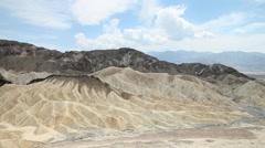 Zabriskie Point, Death Valley National Park, California Stock Footage