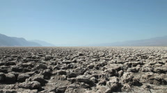 The Devils Golf Course, Death Valley National Park, California Stock Footage