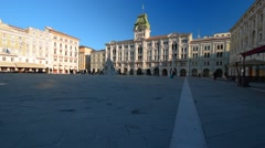 Central square of Trieste Stock Footage