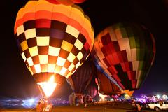 Singha Park International Balloon Fiesta,Thailand. - stock photo