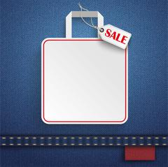 Stock Illustration of Jeans Shopping Bag Price Sticker Sale