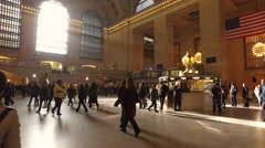 New York City Grand Central station people commuters slow motion Stock Footage