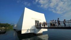 Arizona memorial - Pearl Harbor, Hawaii Stock Footage