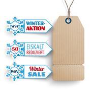 Carton Price Sticker 3 Markers WSV Stock Illustration