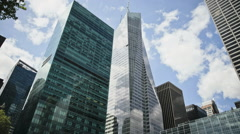 Midtown Manhattan skyscrapers, New York City, New York, USA - stock footage