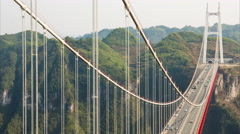 Aizhai Bridge aerial view Stock Footage