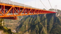 Aizhai Bridge ,China Stock Footage