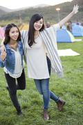 Stock Photo of Happy young Chinese women